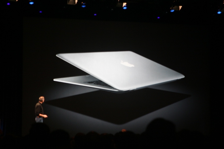 MacBook Air from back