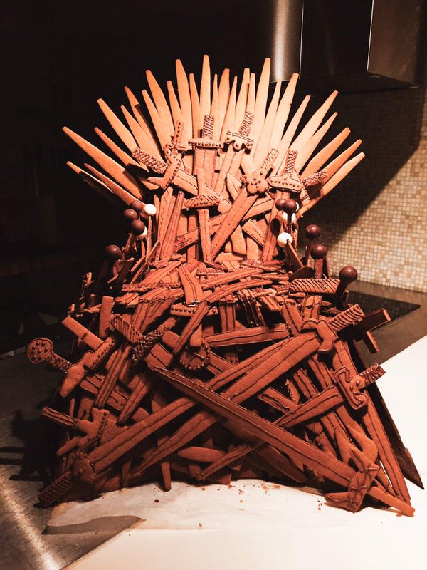 Gingerbread throne of swords