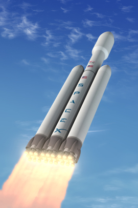The SpaceX Falcon Heavy will have its inaugural test flight next year.