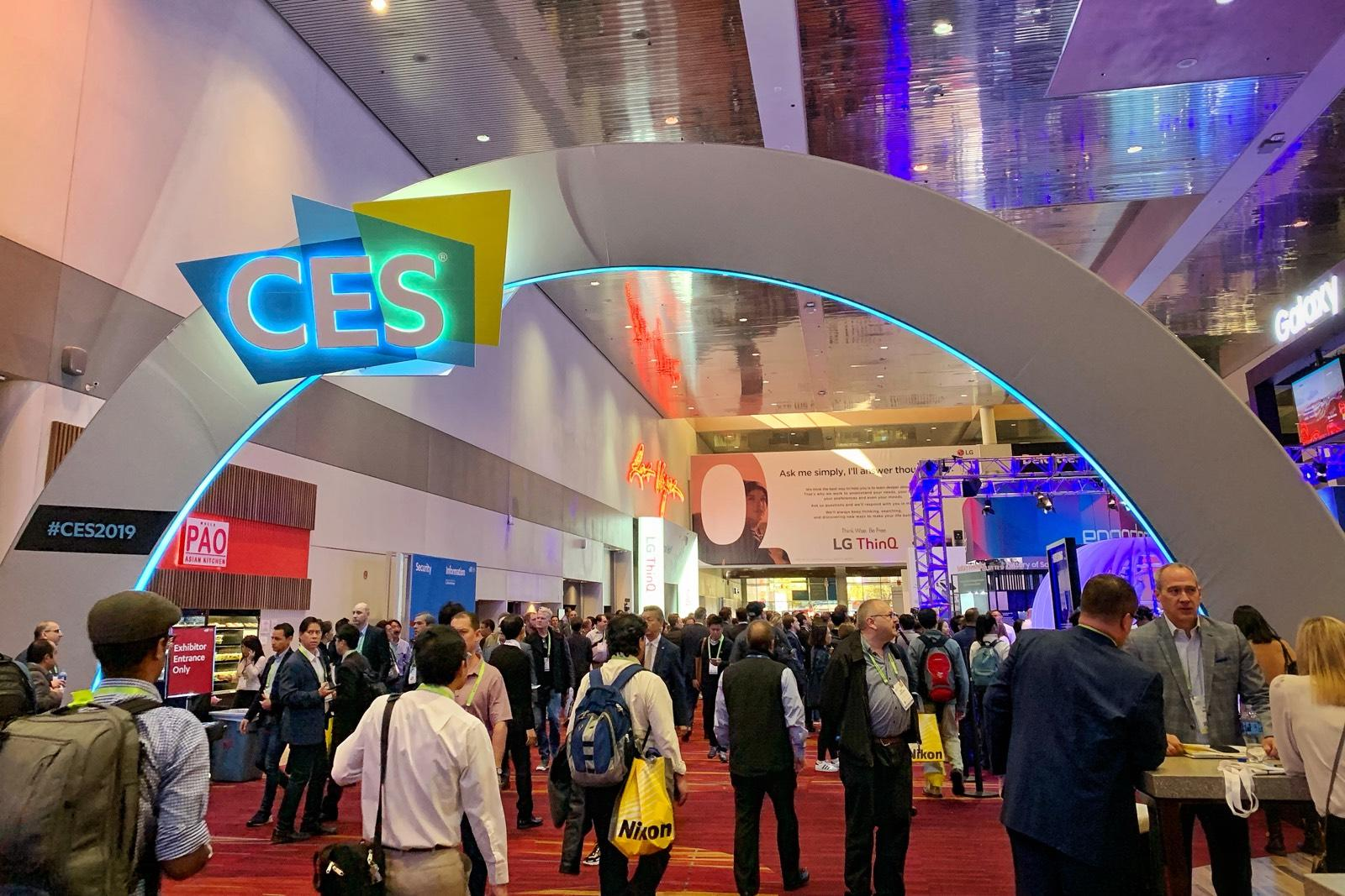 CES welcome arch