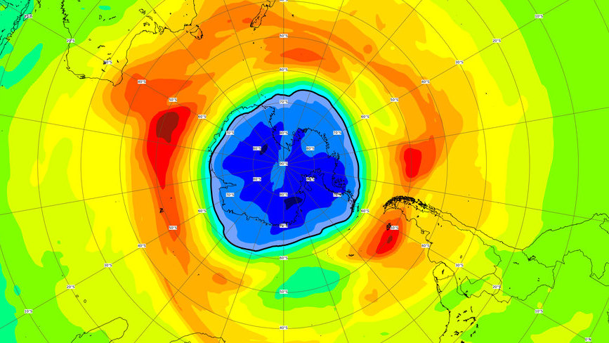 This year's ozone hole over the South Pole is already larger than Antarctica