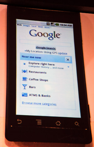 'Near me now' is a mobile service that shows local services to a mobile search user.