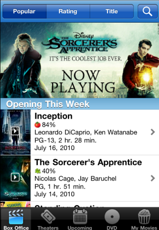 Movies/Flixster (CNET 100: iPhone Apps)