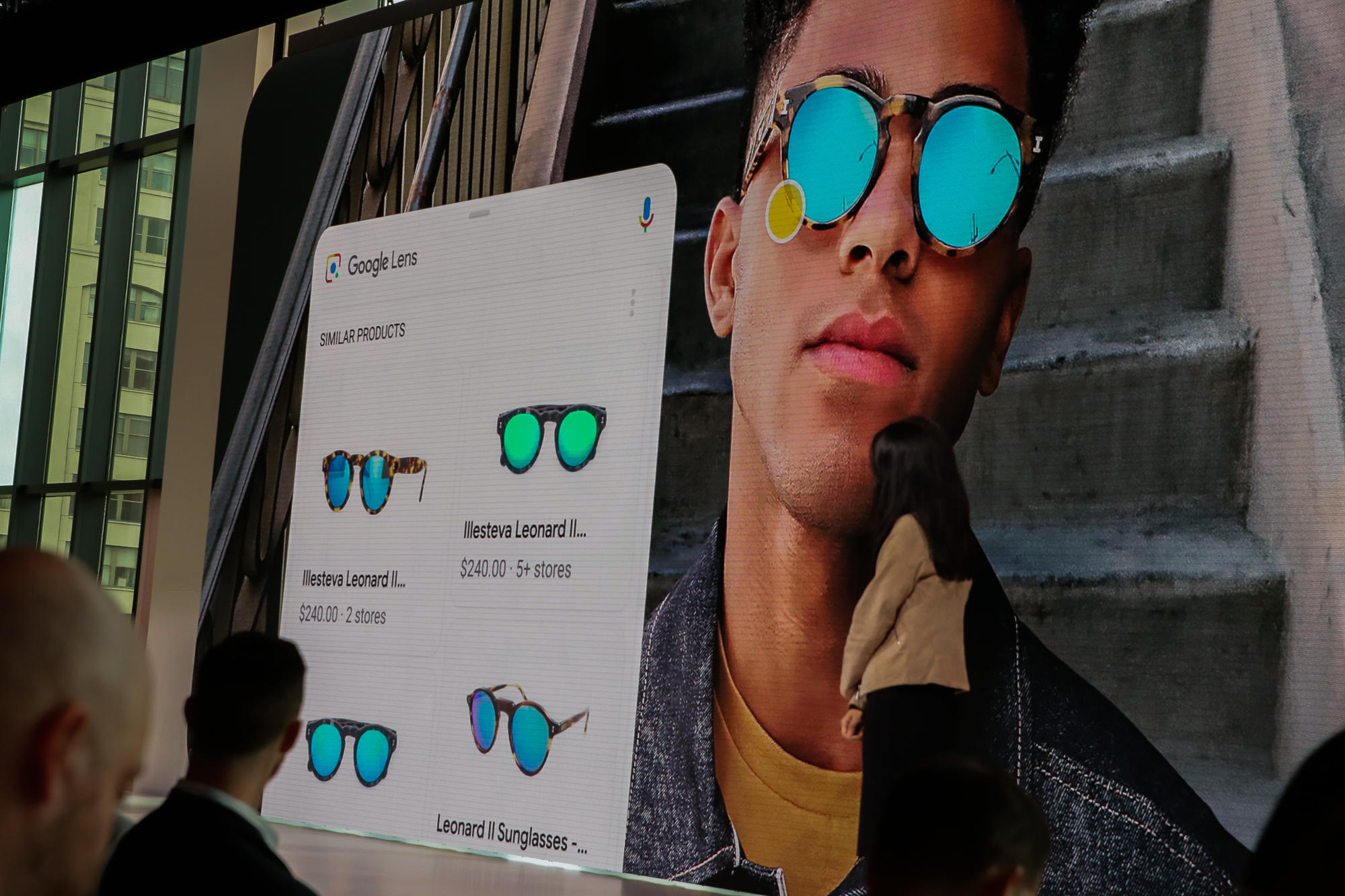 Point Google Lens at a picture of sunglasses, and it'll try to help you find a pair online.