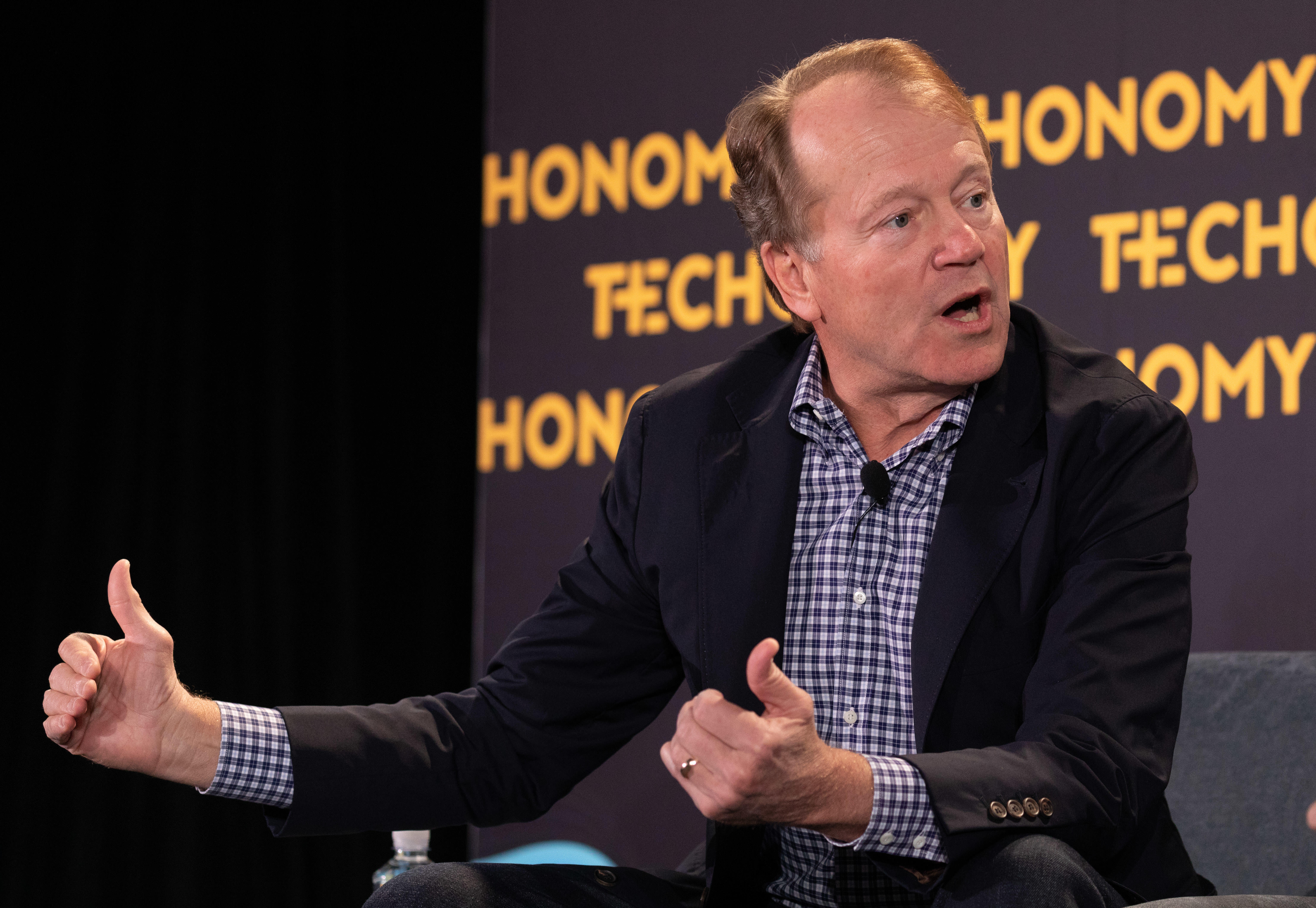 <p>JC2 Ventures leader and former Cisco CEO John Chambers speaks at Techonomy 2018.</p>