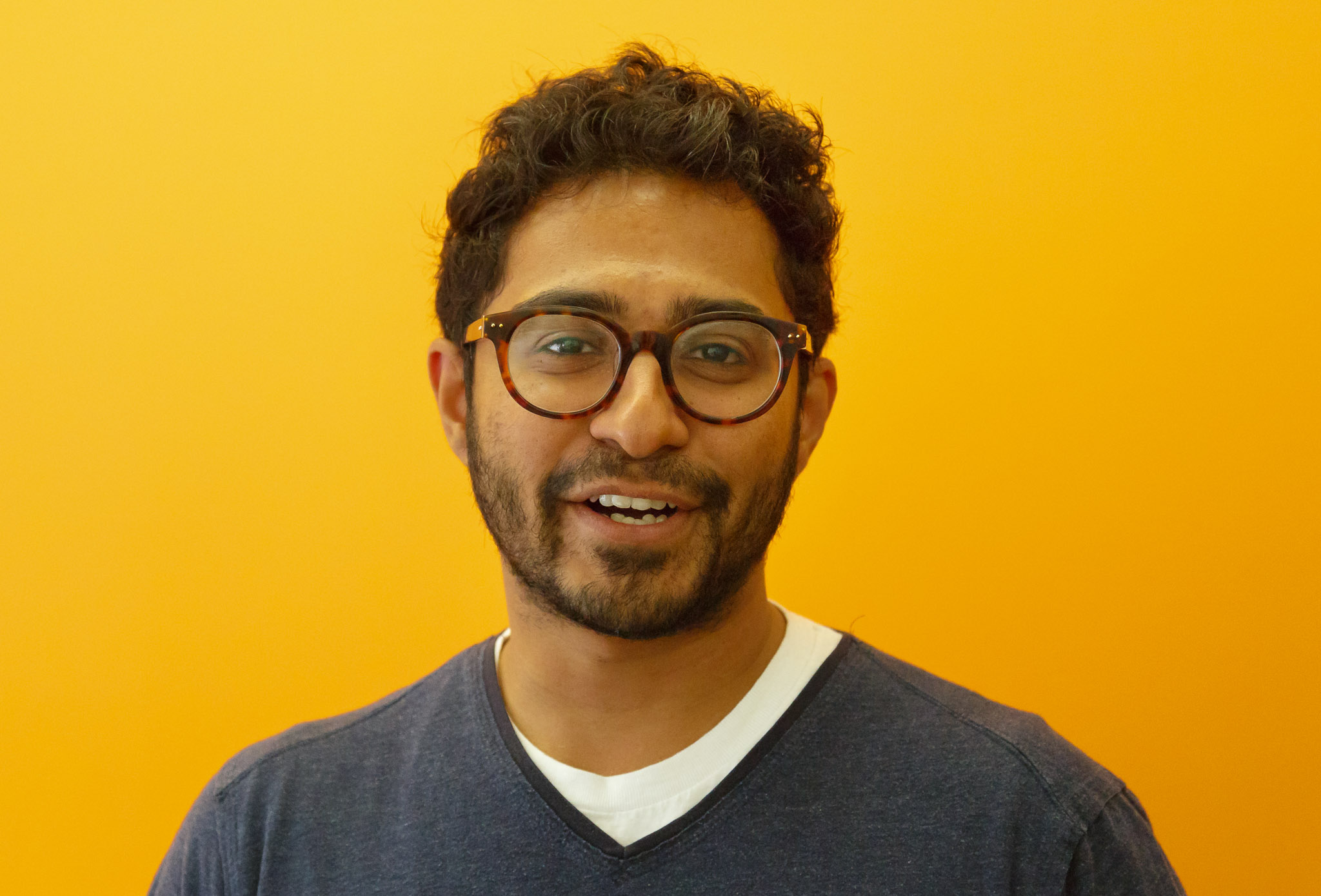Renganathan Ramamoorthy, the Chrome team product manager who oversees VP9 work, speaks at Google headquarters..