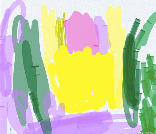 Child's art, drawn with the S Pen on the Samsung Galaxy Note 2