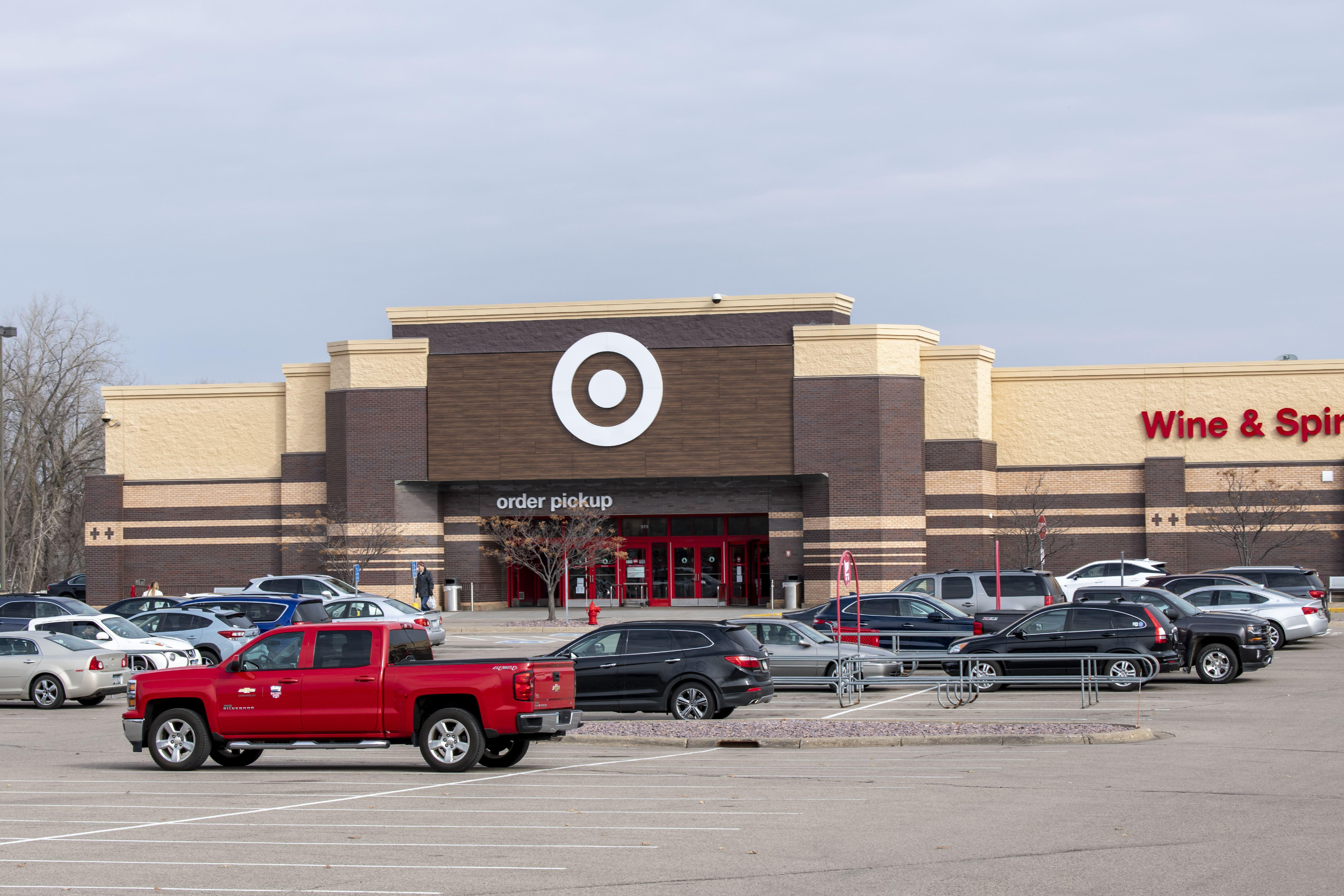 Target store and parking lot