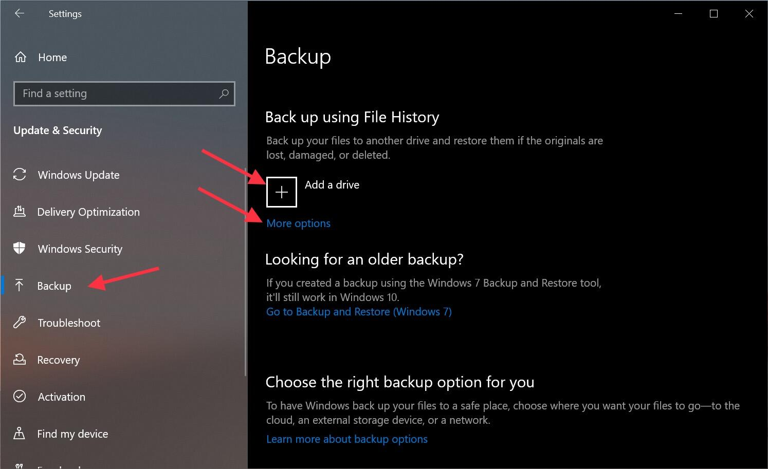 Windows 10 Backup