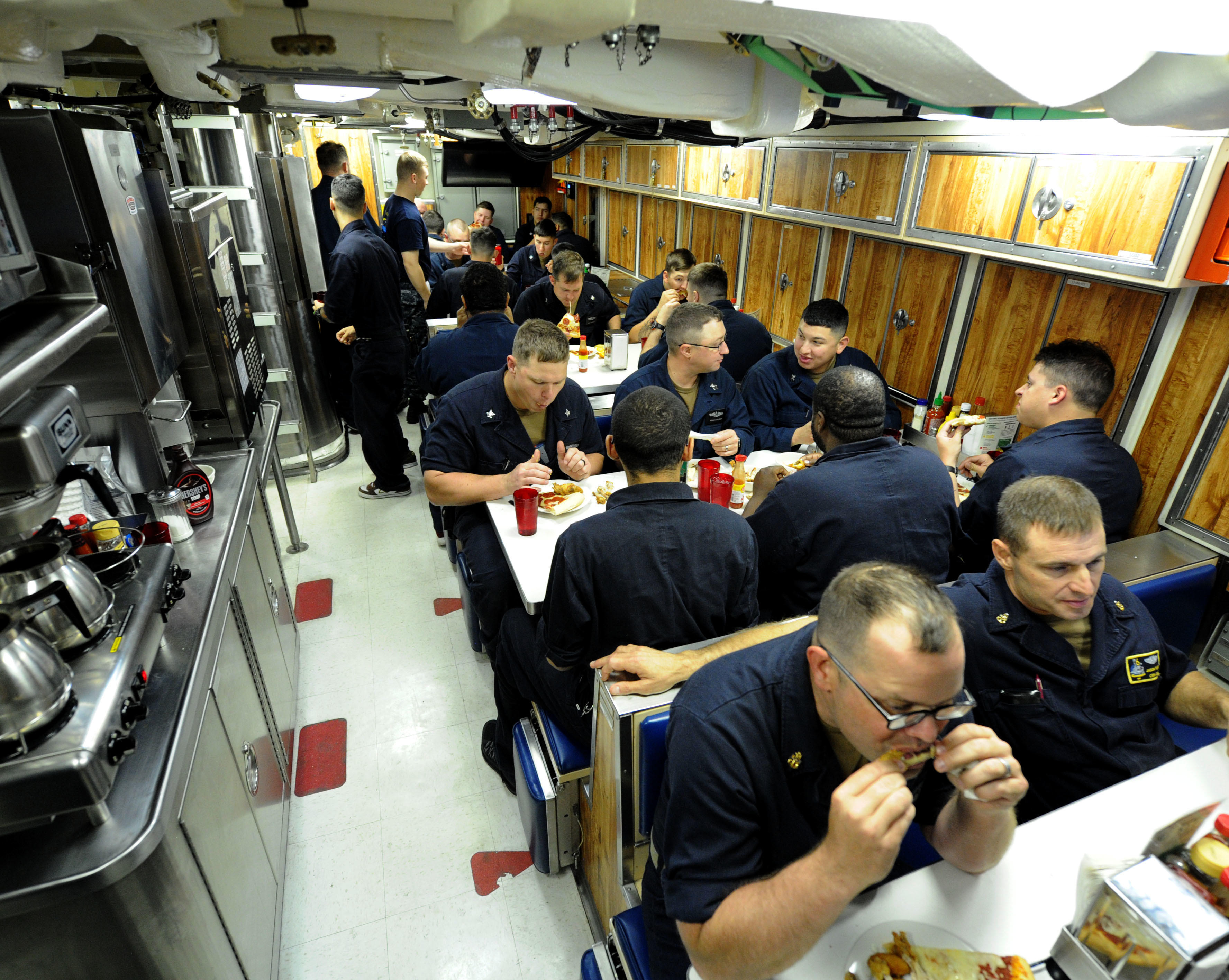 Crew's mess on the USS Indiana