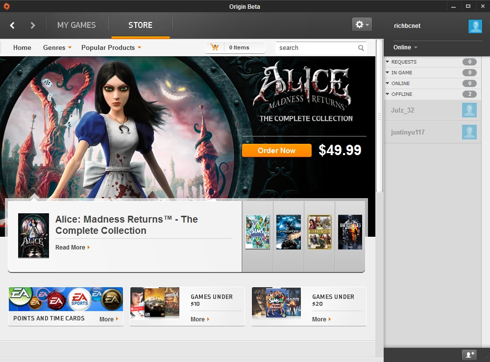 While not an Origin-exclusive, EA's Alice: The Madness Returns is no longer available for purchase through Steam.