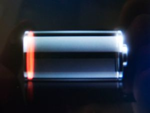 The iPhone's low-battery indicator.