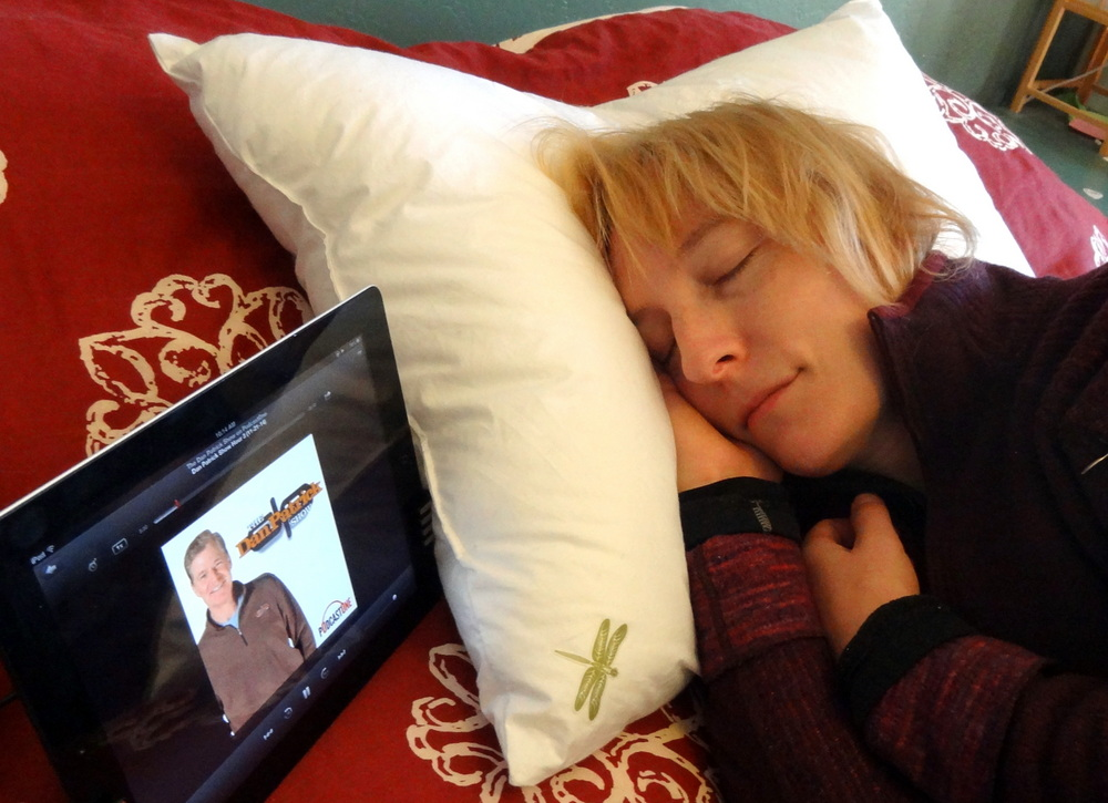 DreamPad pillow in use