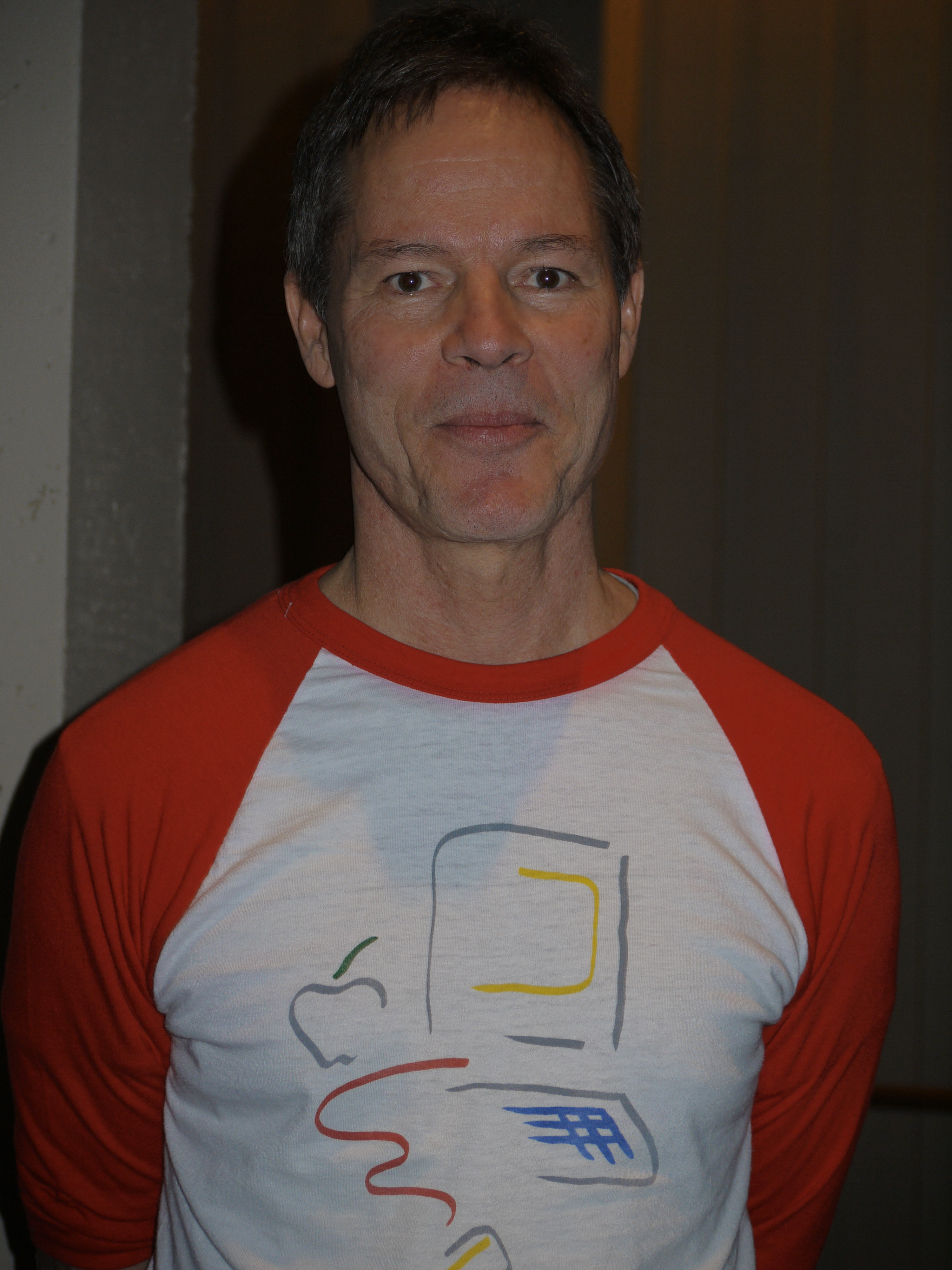 Classic Macintosh T-Shirt modeled by Larry Kenyon