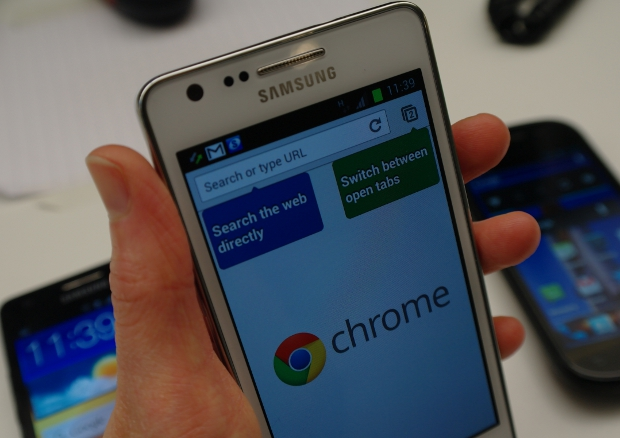 Samsung Galaxy S2 Chrome for Android