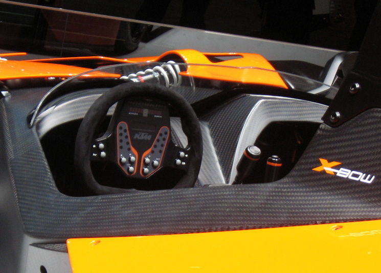 Just like an F1 car, the steering wheel is loaded with controls.