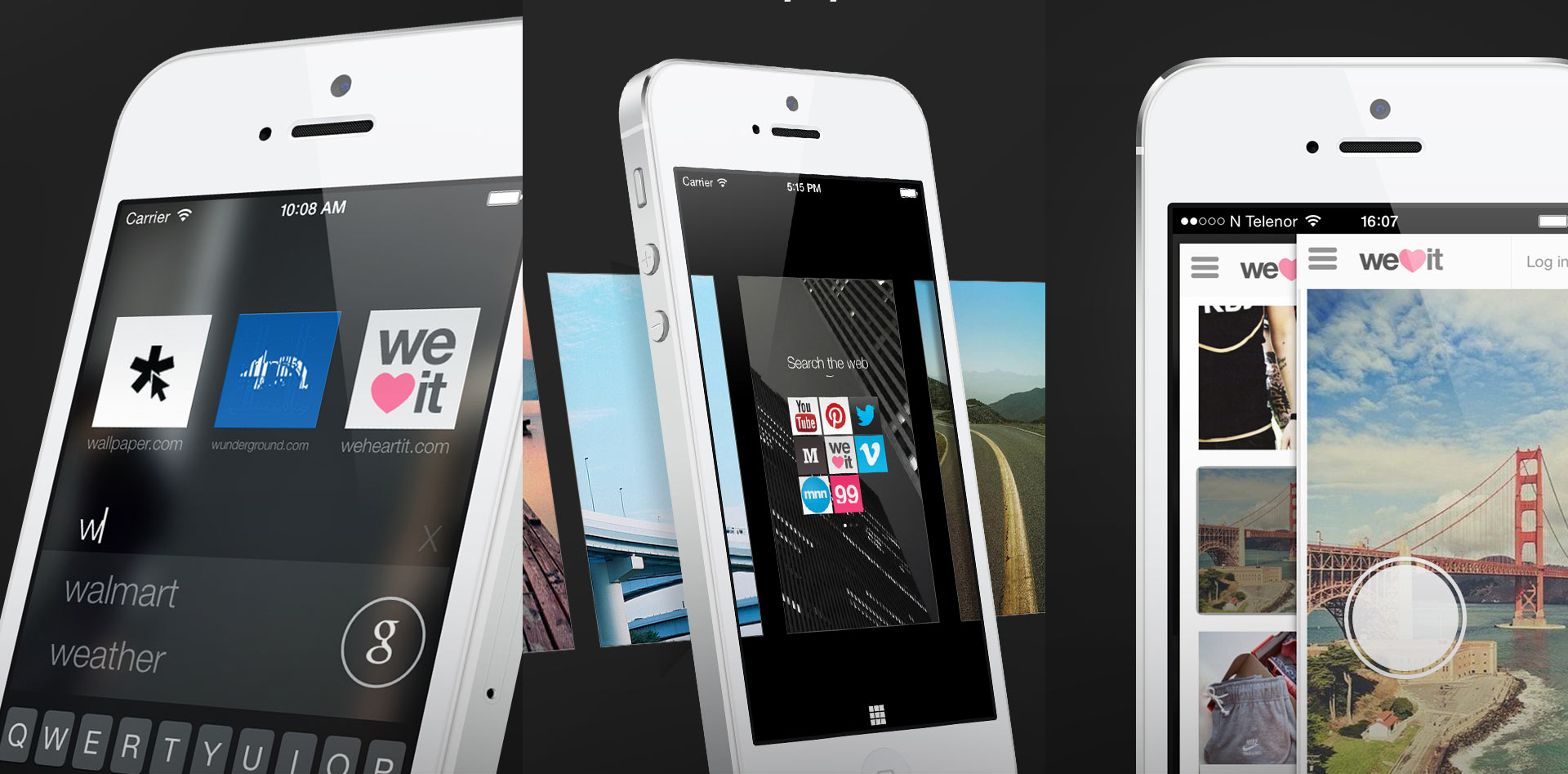 Opera Coast for iPhone autocompletes Web addresses, offers custom backgrounds, and relies on a gesture controls..
