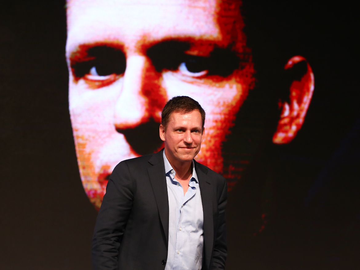 Thiel at an entrepreneurship and investment forum in Beijing last year.