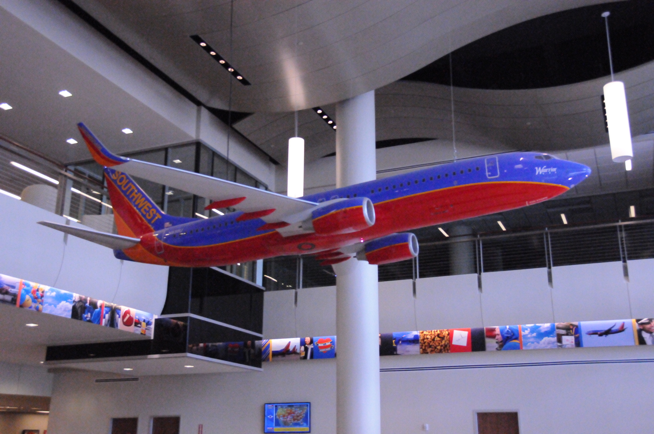 Big plane in TOPS lobby