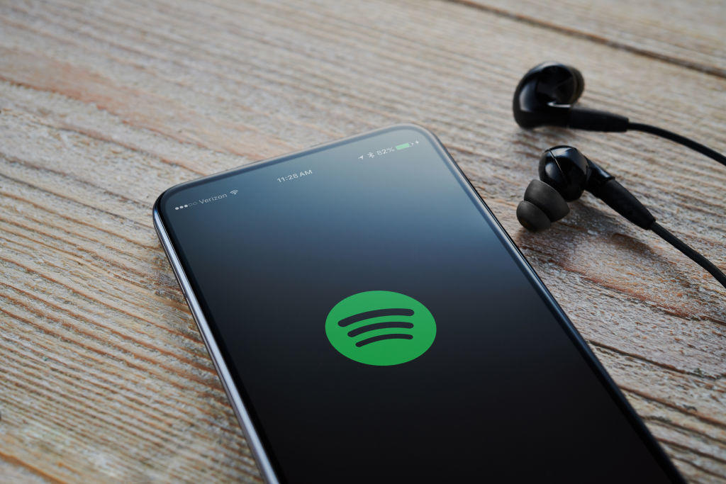 Spotify Music App On A Smartphone