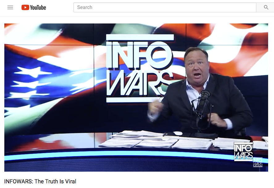 <p>Infowars is removed from Vimeo.</p>