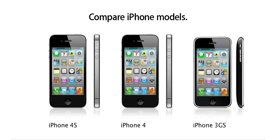 Image: Three phones, three different sets of features. How un-Apple of them!