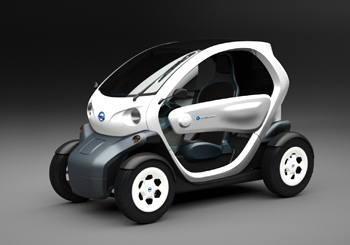 The zero-emissions Nissan New Mobility Concept vehicle could be the ideal last-mile transportation solution for commuters.