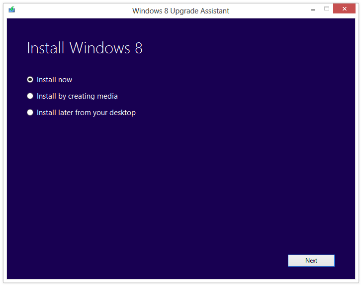 The Windows 8 Upgrade Assistant walks you through the relatively simple upgrade process.