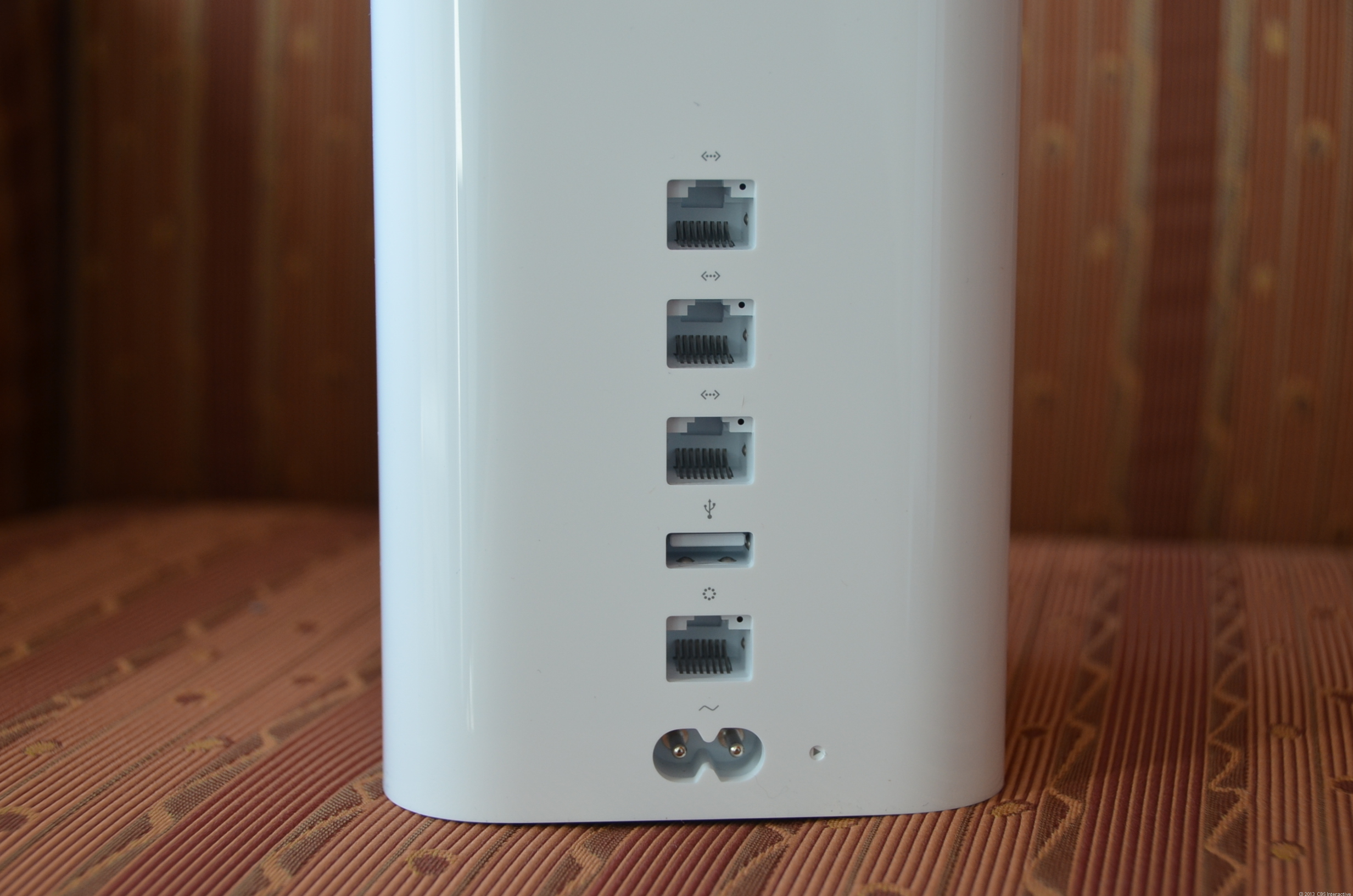 Similar to previous generations, the new Time Capsule has just three LAN ports and supports USB 2.0.