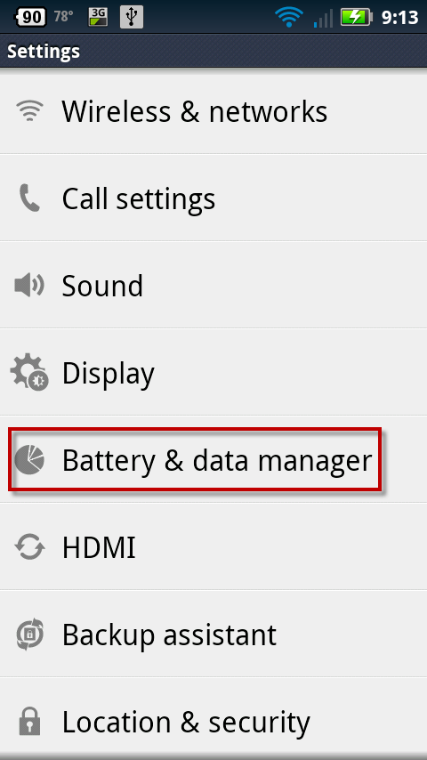 Battery & data manager