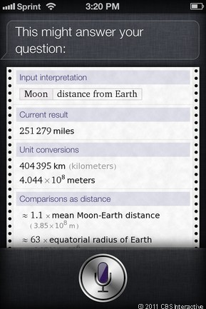 What's the distance to the moon?