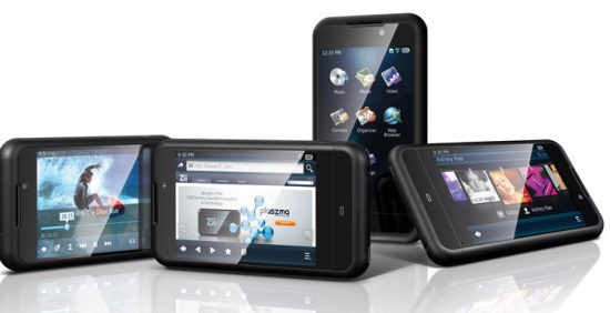 Photo of the Zii Egg touch screen portable media player.