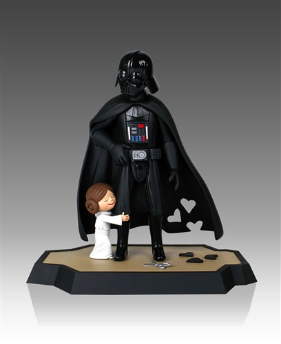 """Characters from Jeffrey Brown's bestselling kids books """"Darth Vader and Son"""" and """"Vader's Little Princess"""" come to life with these collectibles from Gentle Giant Studios."""