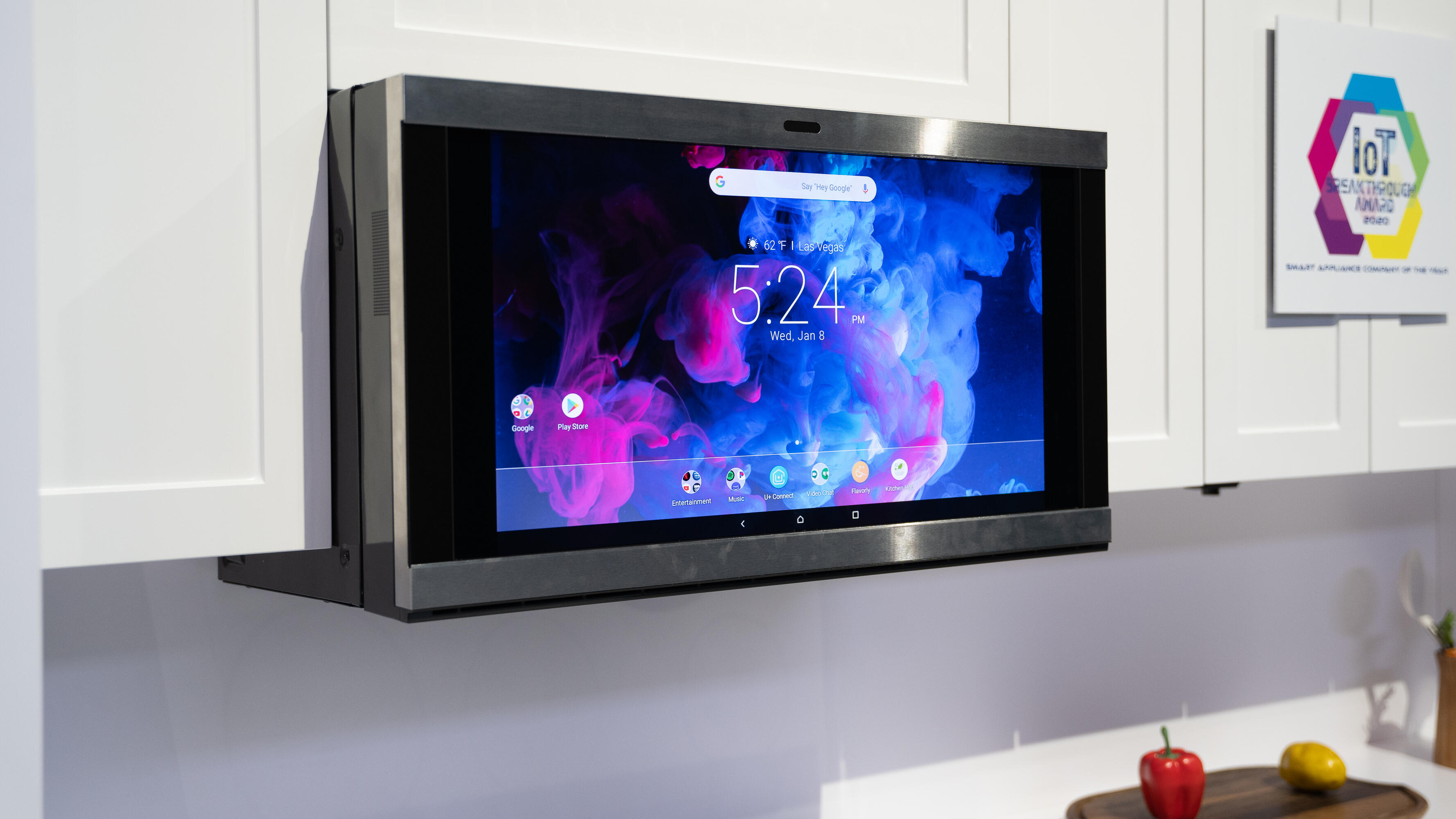 Ge Appliances New Kitchen Hub Is A Mega Touchscreen That Can Microwave Cnet