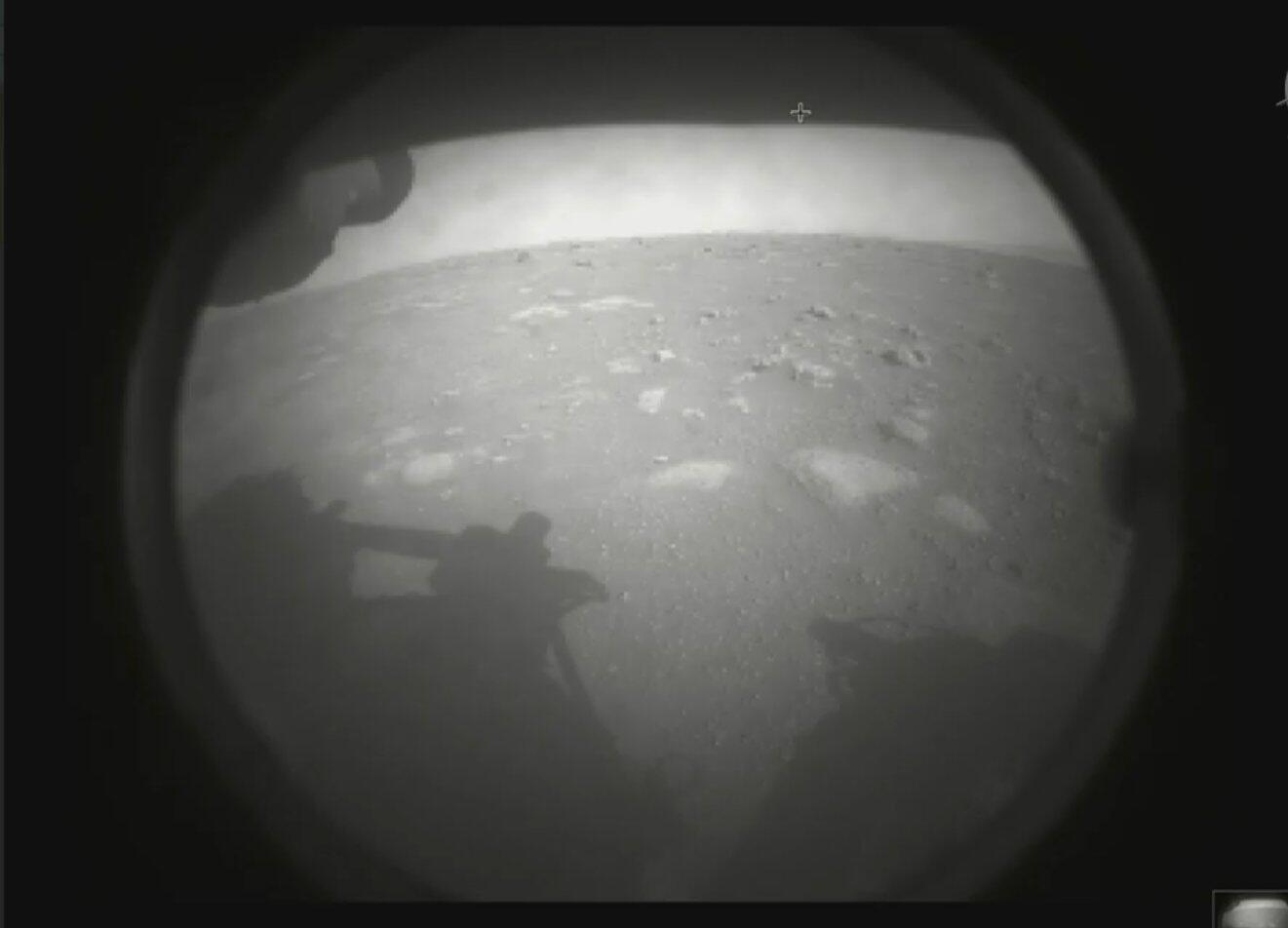 Perseverance rover first view of Mars