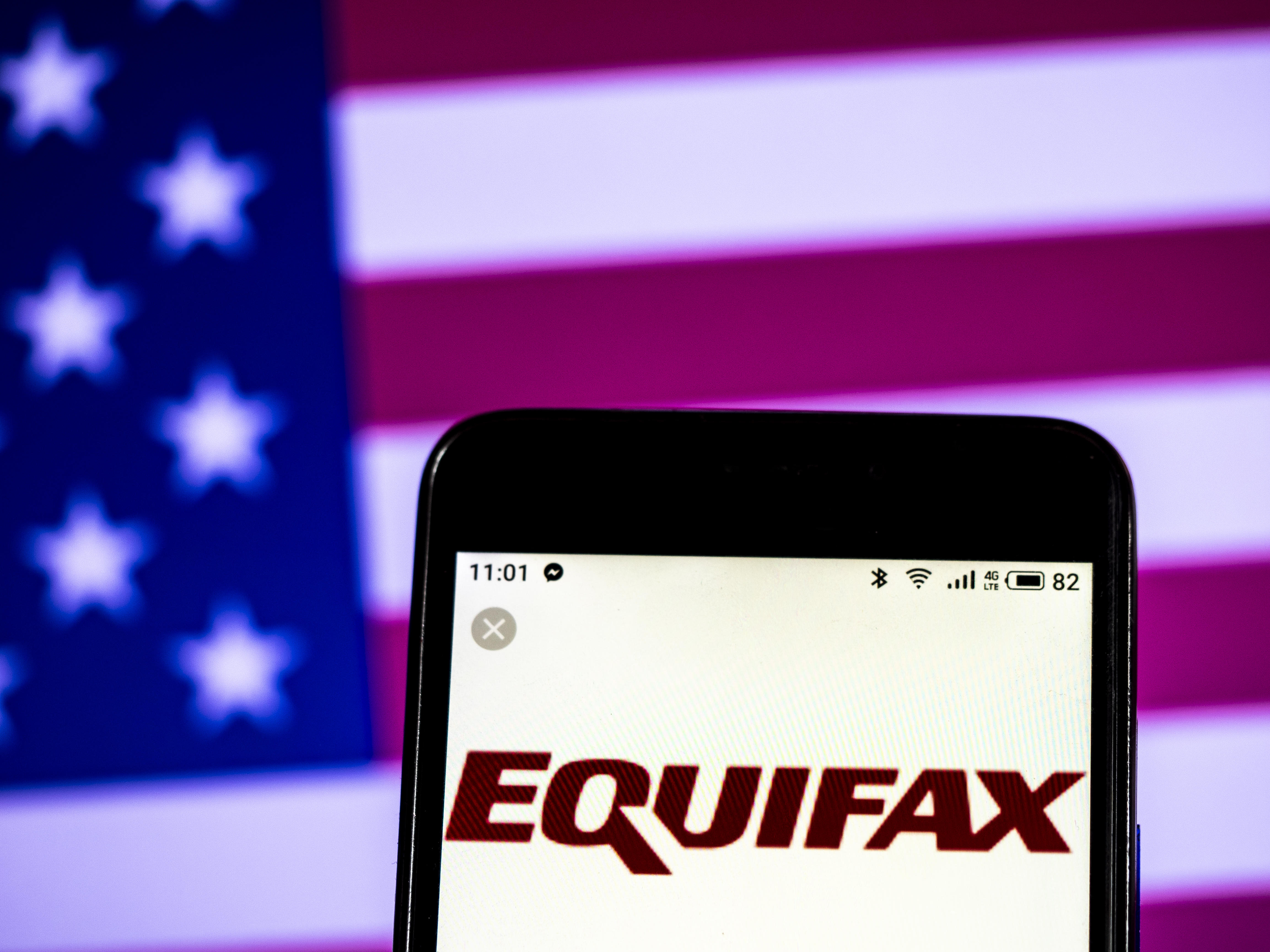 Equifax Consumer reporting agency company logo seen
