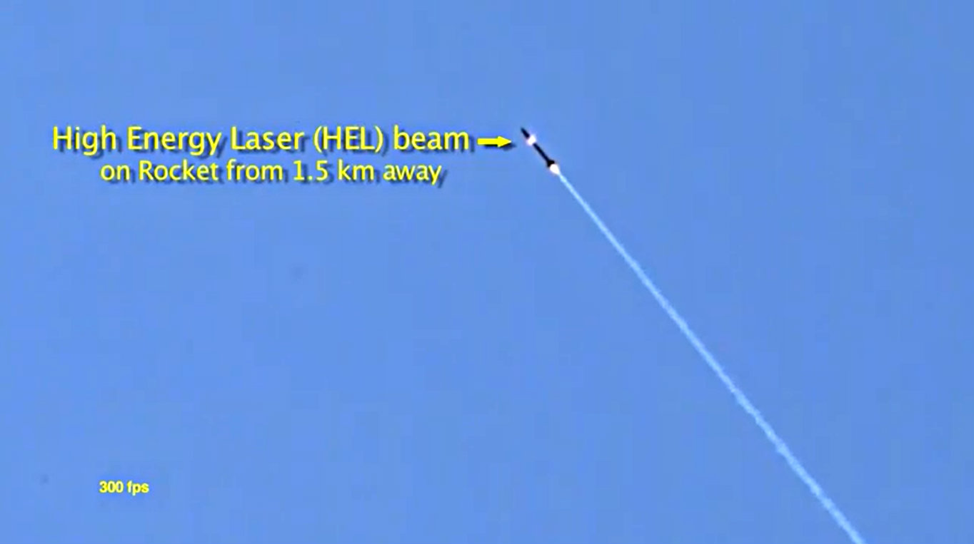 Lockheed ADAM high energy laser beam