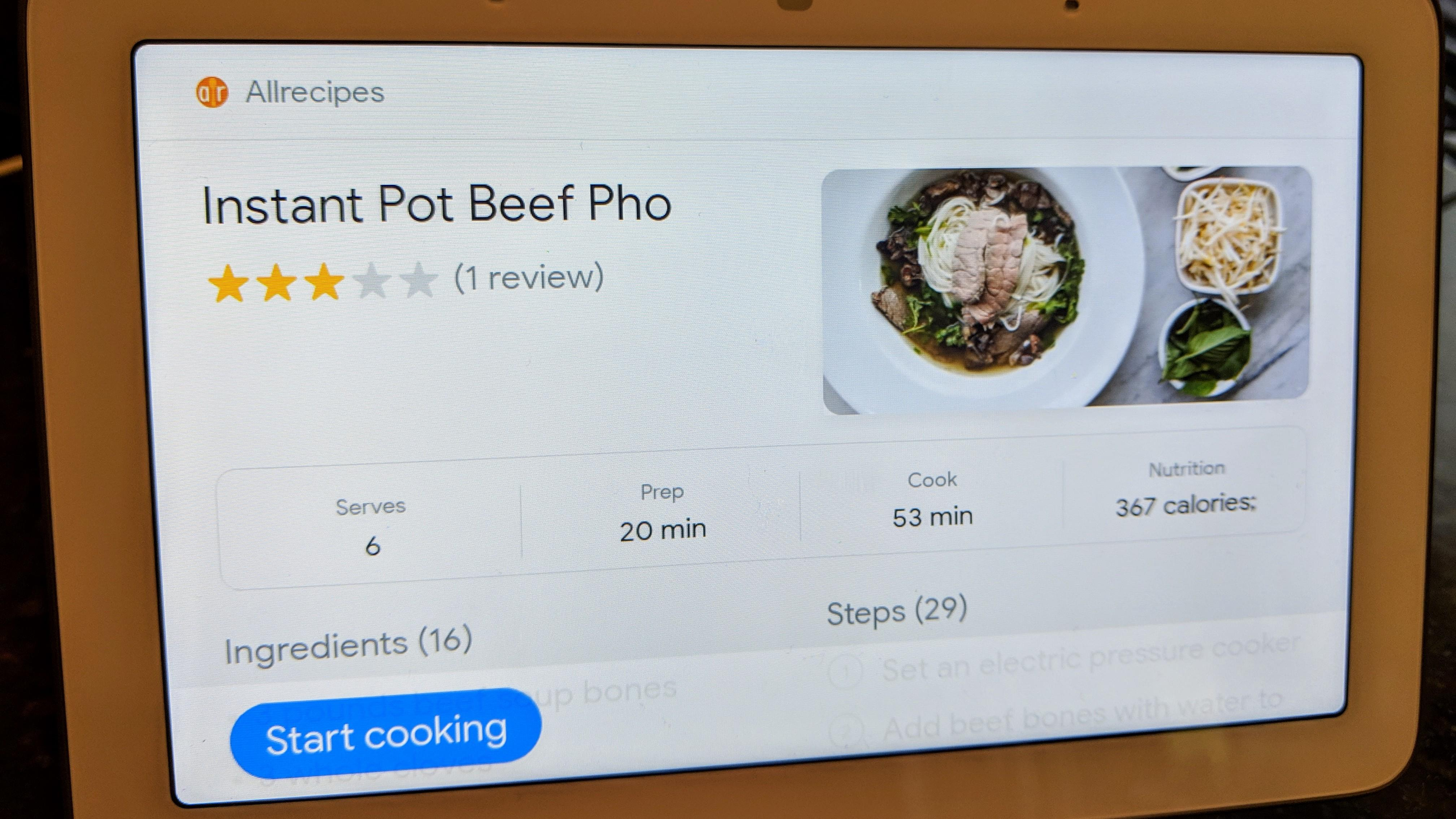 google-home-hub-cooking-find-recipe