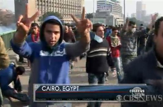 Protesters in Cairo, Egypt, Jan. 28, 2011.