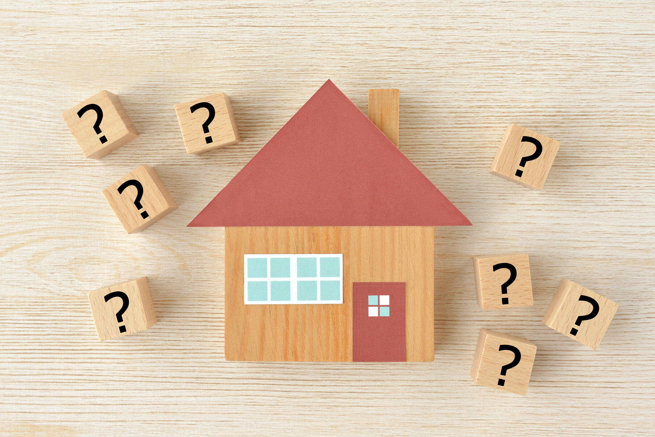 Home with question mark blocks