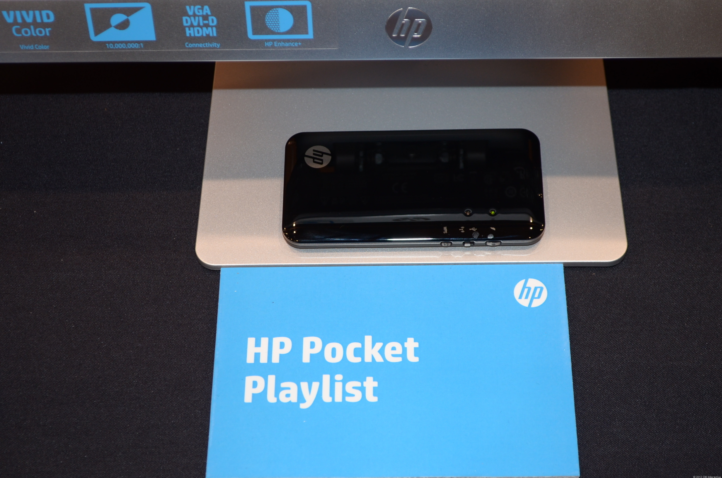 The HP Pocket Playlist at CES 2013.