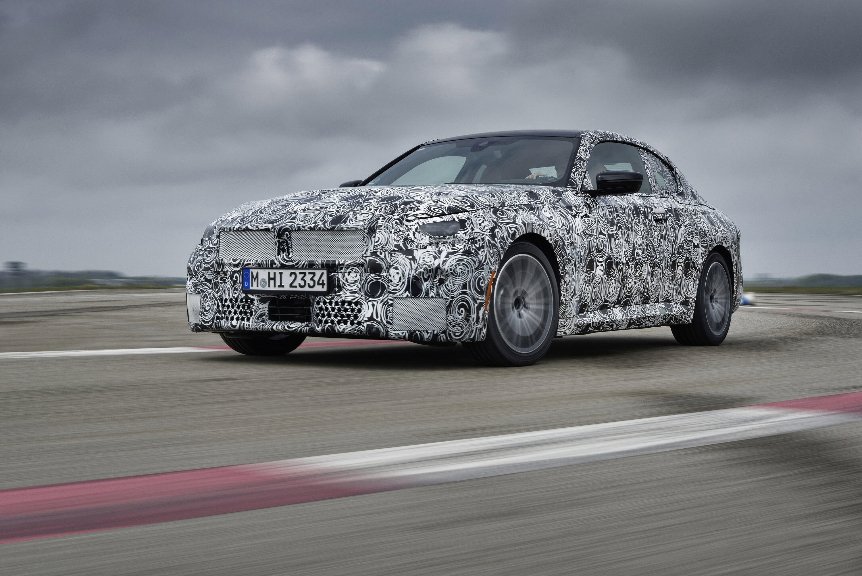 2022 BMW 2 Series Coupe camouflaged