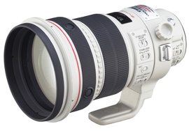 The new EF200mm f/2L IS USM updates the classic EF200 f/1.8L USM with optical image stabilization.
