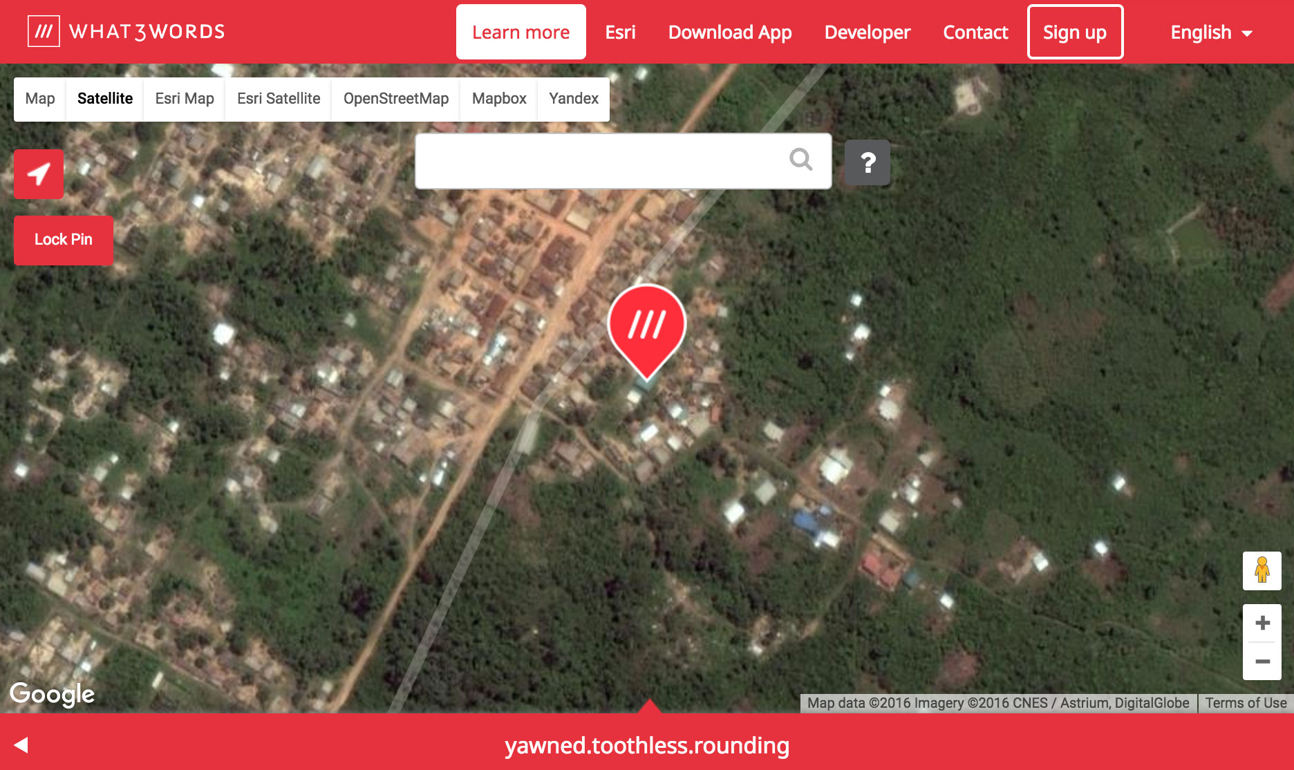 The What3words address of heaven.mallard.houseguests points to one particular structure on the outskirts of Mberie in the African country of Ivory Coast.