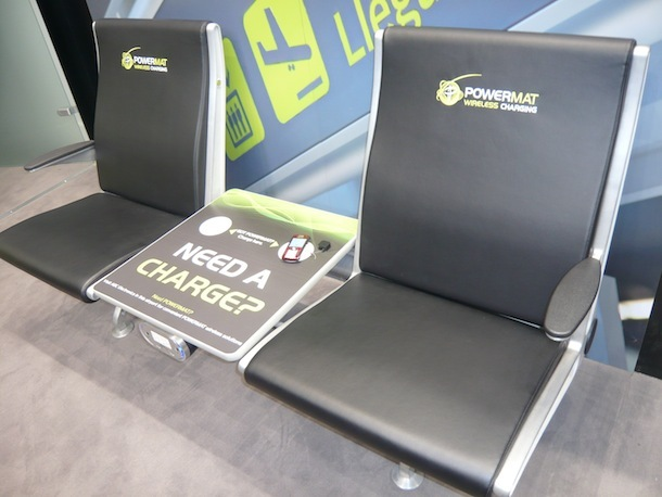 Powermat is also integrating its induction wireless charging technology into furniture.
