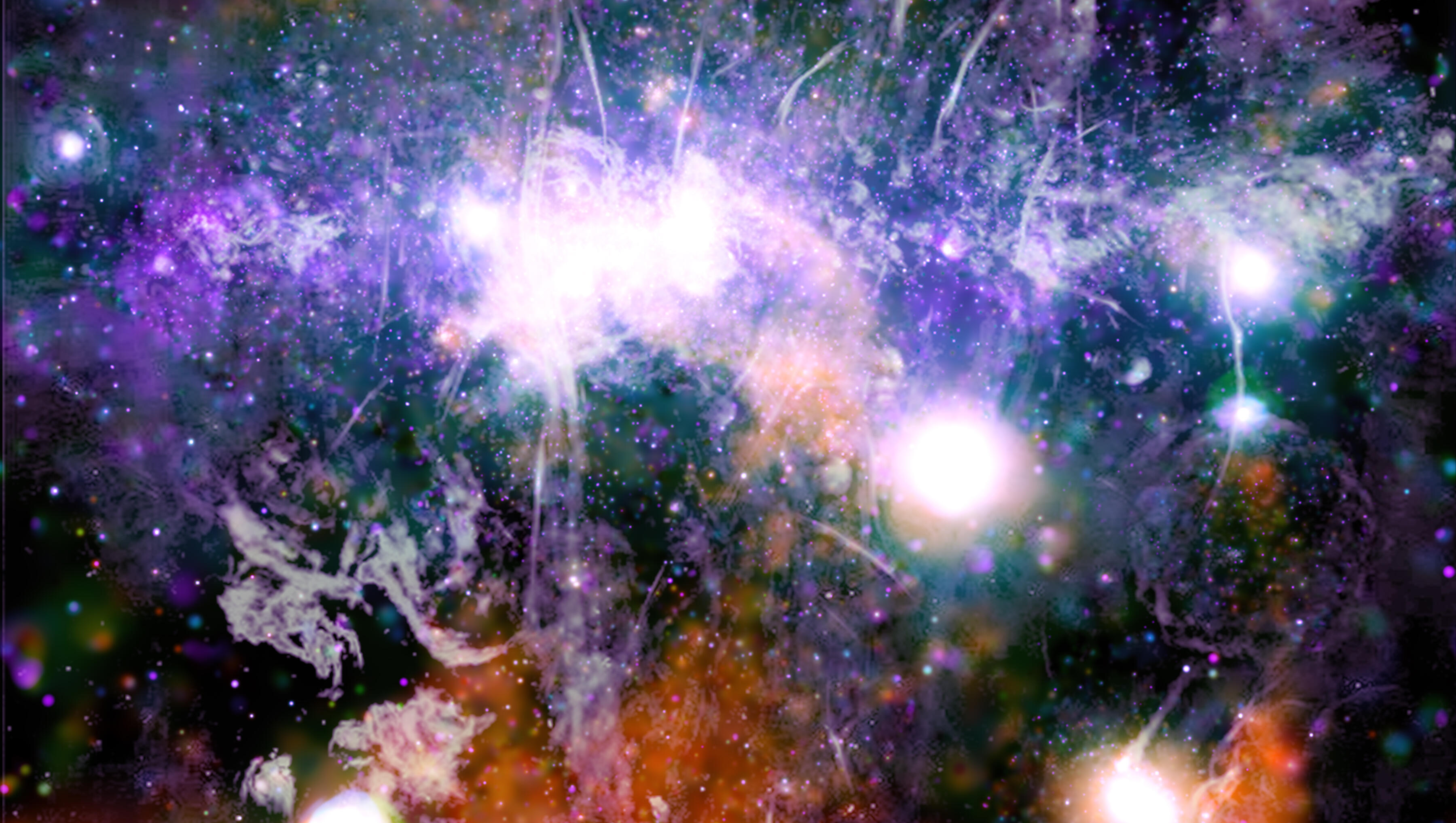 Psychedelic fireworks: NASA's view of Milky Way