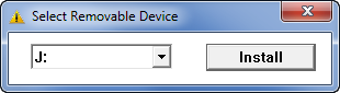 Select removable device