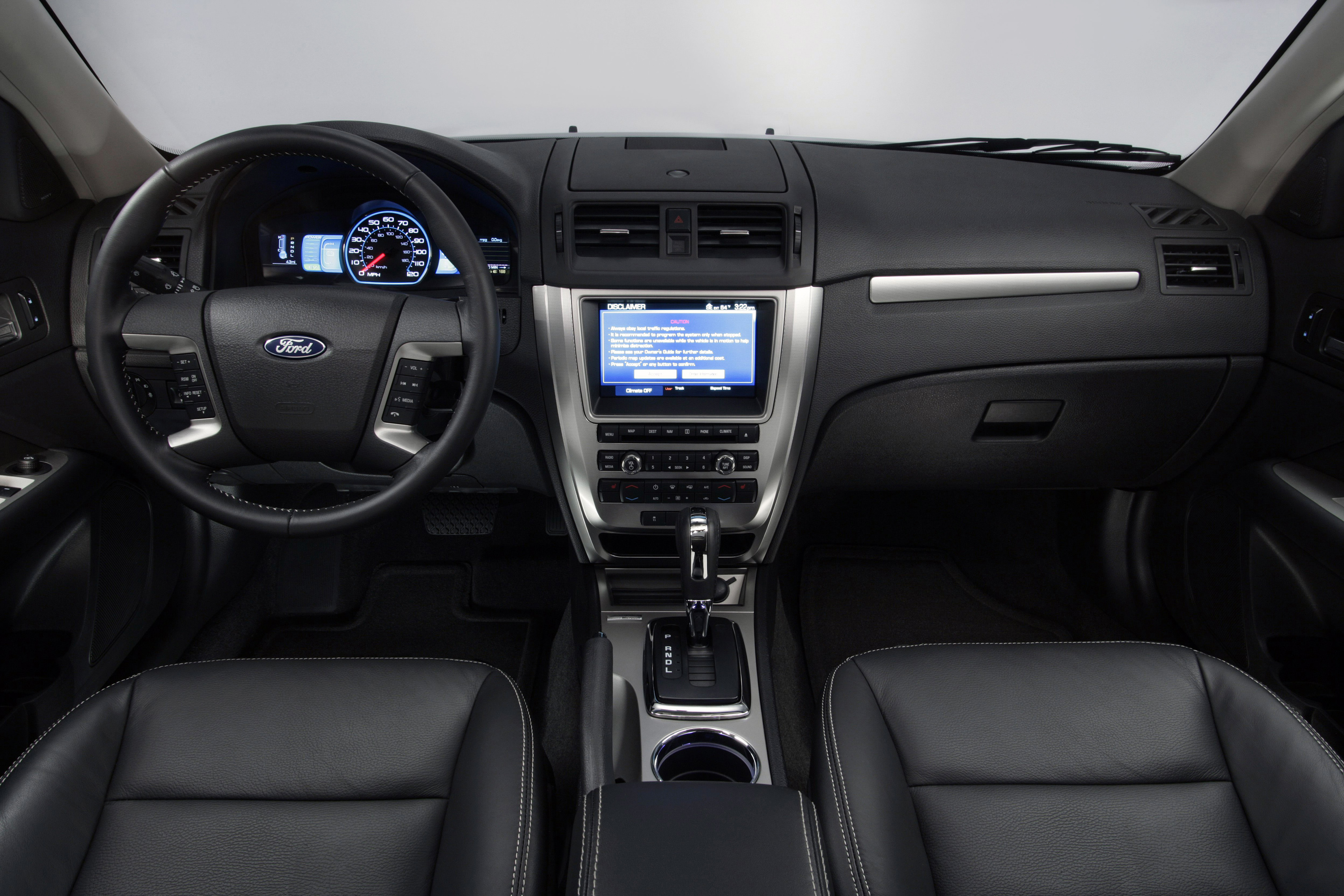 The interior of the 2010 Ford Fusion Hybrid