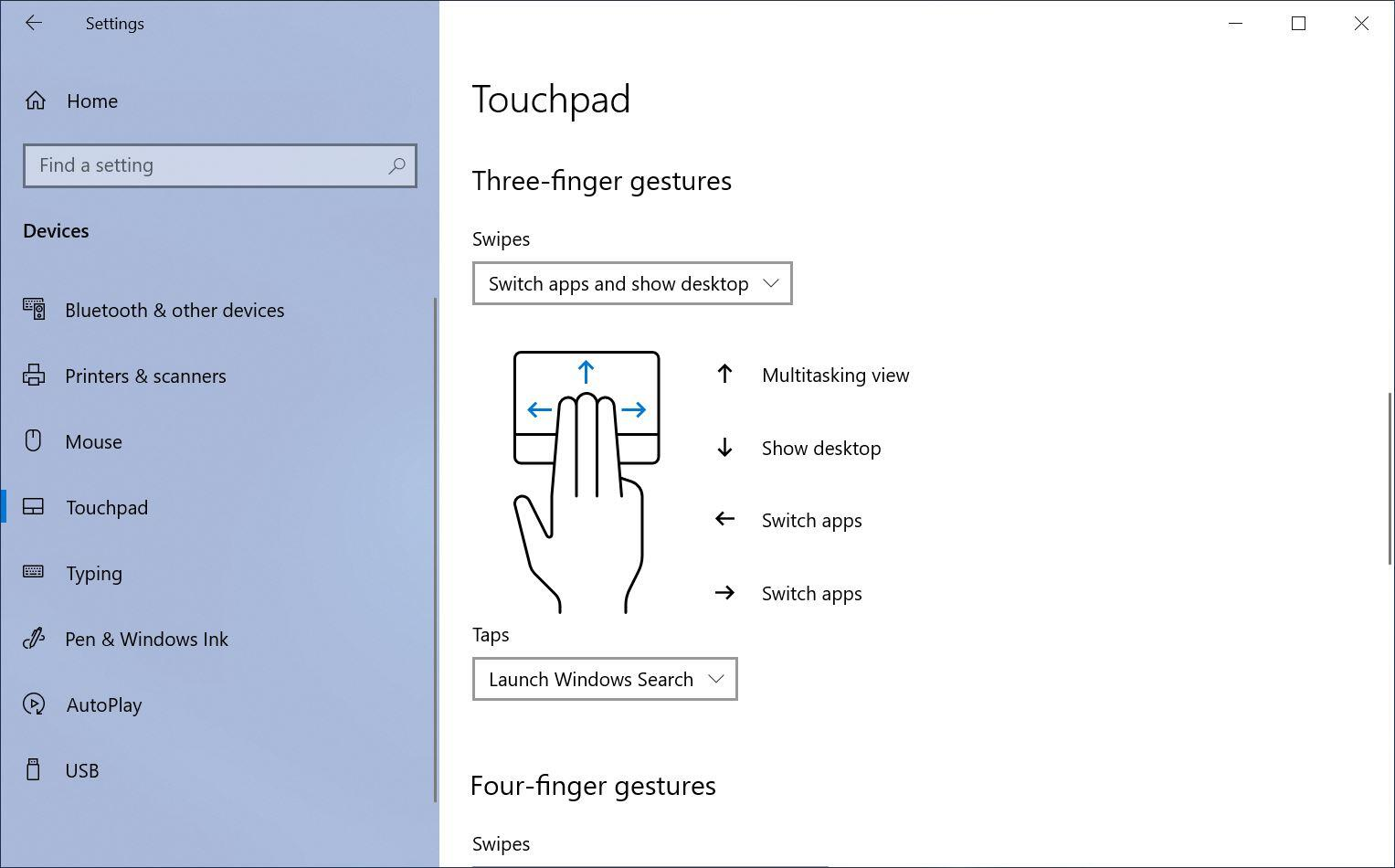 touchpad-gesture-settings