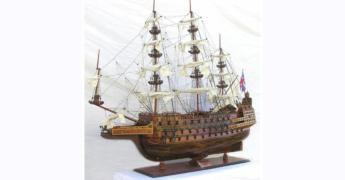 This incredibly intricate $2,700 model ship